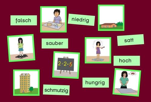 Wort-Bild-Karten Eigenschaftswörter