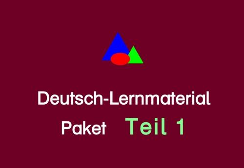 Deutsch-Lernmaterial Paket Teil 1