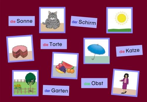 Wort-Bild-Karten Namenwörter